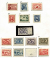 Lot 501 [2 of 8]:KGV & KGVI Period Collection of mixed mint & used, with range of Roos 1st Wmk to 9d mint, 2nd Wmk to 2/- used, 3rd Wmk to £1 grey 'SPECIMEN', SMW to 9d mint and CofA to 10/-, £1 & £2 'SPECIMEN's, a few varieties noted including used 6d blue Die II 3rd Wmk Wmk inverted, Range of KGV heads also with a few varieties. Later issues largely complete mint (5/- Bridge CTO, £1 Robes thick paper used) with some extras. The Kingsford Smith 'OS' are cto and appear genuine. (100s)
