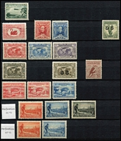Lot 282 [6 of 10]:1913-65 with small duplication in large stockbook, incl Roos 1st wmk ½d to 6d, 3rd Wmk 3d & 9d, KGV single wmk ½d to 1/4d, SMW P14 ½d to 4½d, SMW P13½x12½ ½d to 4d, CofA ½d to 5d, then on fairly complete, though missing the high-values, with 3d Kooka M/S, 10/- Robes, Navigators set of 6. Generally good quality stamps, however some wmks are not identified properly. Excellent value. (100s)