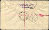 Lot 1215 [2 of 2]:1949 5/- Arms tied to Miller Bros illustrated cover by Arncliffe '11AP49' cancel, blue registration label.
