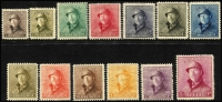 Lot 1411 [2 of 2]:1919-20 Albert complete set, SG #237-50, Cat £1,000. Ex UPU distribution. (14)