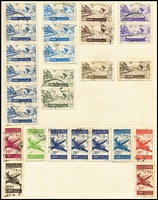 Lot 102 [2 of 4]:World collection in Rapkin spring-back album, reasonably well-filled from 19th Century to 1960s, generally good condition, noted NZ 3/- QEII MUH, used USA 10c San Francisco. good ranges of Vatican, Lebanon (100s)