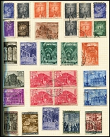 Lot 102 [1 of 4]:World collection in Rapkin spring-back album, reasonably well-filled from 19th Century to 1960s, generally good condition, noted NZ 3/- QEII MUH, used USA 10c San Francisco. good ranges of Vatican, Lebanon (100s)