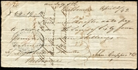 Lot 76 [2 of 3]:Vic 1842 Cheques: made out to Messr Watson & Hunter, Melbourne, [1] Union Bank of Australia, Melbourne 2/4/1842 for £64/19/-; [2] Port Phillip Bank 19/5/1842 for £42 (The Port Philip bank only operated between Jan 1840 and Jan 1843); [3] Bank of Australia, Sydney 30/6/1842 for £87/6/5d. (3)