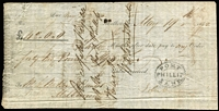 Lot 76 [1 of 3]:Vic 1842 Cheques: made out to Messr Watson & Hunter, Melbourne, [1] Union Bank of Australia, Melbourne 2/4/1842 for £64/19/-; [2] Port Phillip Bank 19/5/1842 for £42 (The Port Philip bank only operated between Jan 1840 and Jan 1843); [3] Bank of Australia, Sydney 30/6/1842 for £87/6/5d. (3)
