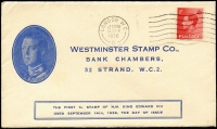 Lot 1618 [1 of 2]:1936 KEVIII ½d, 1½d and 2½d with light 1SEP/1936 cancel & 1d with 14SEP/1936 cancel on matching Westminster Stamp Co covers. Cat £375. (2)