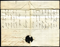 Lot 998 [2 of 2]:1847 (Sep 13) inwards entire from Edinburgh to Sydney, very fine 'PAI[D] at