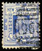Lot 1909:1963: (A2) '1963' BN on 2d blue, [Rated 4R];  Allocated to Unkya Creek-PO 6/11/1899; renamed Eungai Creek PO 1/12/1911.