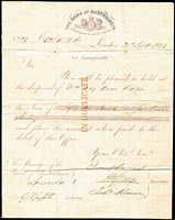Lot 1079 [2 of 2]:1838 (Dec 29) inwards entire from Bank of Australasia, London to Launceston with boxed 'S