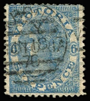 Lot 1096 [1 of 3]:1863-87 6d Laureates lightly populated in small stockbook mostly Single-Line '6' or V/Crown Watermark issues noting the odd pair, 1867-70 Emergency Printing comprising Watermark Double-Lined '1' x2, Watermark 'SIX/PENCE' & 'THREE/PENCE', condition variable; also Purves album pages for 4d Laureate reconstructions with detailed annotations, no stamps but does include photographs of several key items, some from the Royal Collection; Excellent reference lot. (6d stamps x20 + 4d photo pieces x35) (c.50)