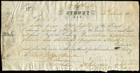 Lot 639 [3 of 3]:1842 Cheques: made out to Messr Watson & Hunter, Melbourne, [1] Union Bank of Australia, Melbourne 2/4/1842 for £64/19/-; [2] Port Phillip Bank 19/5/1842 for £42 (The Port Philip bank only operated between Jan 1840 and Jan 1843); [3] Bank of Australia, Sydney 30/6/1842 for £87/6/5d. (3)