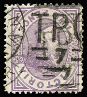 Lot 1125:TPO 7 (1): 'T.P.O/7' WWW#10 right half of small duplex on 2d Bell. [Rated 4R - 4 recorded on stamp.]