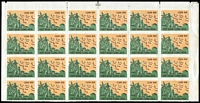 Lot 1643:1960 Military Stamp block of 24 from top of sheet, SG #SMF115, MNG as issued, Cat £920+.