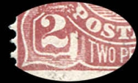 Lot 738 [4 of 4]:Mint Varieties 2d red-brown Die I Large white flaw in left value tablet (97(16)f cat $150), rubbing on face from attempting to remove CTO cancel, mint 4d violet White flaw on curve of roo's hip, mint 4d olive SMW P13½x12½ Kangaroo's tongue out (116(4)e cat $120) perf 'WA'. (3)