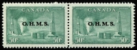Lot 1032 [1 of 2]:1949-50 'O.H.M.S.': complete set in pairs. SG #O172-77. (6 prs)