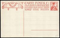 Lot 68 [2 of 7]:World Covers in 5 small A4 folders, ranging from pre-stamp to modern, including range of PPCs and Stationery, several stampless to Malta, noted Canada formular Air Letter 1945 use New Orleans to Uganda, 1920 Schleswig set of 14, 1898 New Caledonia Envelope, several Jenolan Caves PPCs, range of Swiss stampless and Postal Cards, etc, WWI German military mail. Interesting lot. (100+)