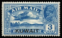 Lot 1557:1933 Air 3a blue with light all-over Double print. Sold as-is.