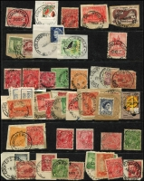 Lot 322 [3 of 6]:A-J Collection mostly on Hagners with covers, stamps & pieces, organised alphabetically, mainly 1900s onwards with duplication. Noted unusual violet 1918 Passed Censor Brisbane on PPC. Range on numeral cancels (1,000s)