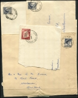 Lot 322 [1 of 6]:A-J Collection mostly on Hagners with covers, stamps & pieces, organised alphabetically, mainly 1900s onwards with duplication. Noted unusual violet 1918 Passed Censor Brisbane on PPC. Range on numeral cancels (1,000s)