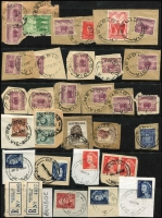 Lot 341 [2 of 6]:A-B Collection: mostly on Hagners with covers, stamps & pieces, organised alphabetically, mainly 1900s onwards with duplication. Noted 1938 Aberfeldy, rare 1969 Lower Bendoc SDL, 1915 Beremboke on 4d orange KGV, 1921 Brown Coal Mine. (1,000s)