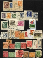 Lot 341 [3 of 6]:A-B Collection: mostly on Hagners with covers, stamps & pieces, organised alphabetically, mainly 1900s onwards with duplication. Noted 1938 Aberfeldy, rare 1969 Lower Bendoc SDL, 1915 Beremboke on 4d orange KGV, 1921 Brown Coal Mine. (1,000s)