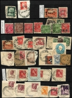 Lot 341 [1 of 6]:A-B Collection: mostly on Hagners with covers, stamps & pieces, organised alphabetically, mainly 1900s onwards with duplication. Noted 1938 Aberfeldy, rare 1969 Lower Bendoc SDL, 1915 Beremboke on 4d orange KGV, 1921 Brown Coal Mine. (1,000s)
