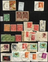 Lot 342 [3 of 7]:C-E Collection: mostly on Hagners with covers, stamps & pieces, organised alphabetically, mainly 1900s onwards with duplication. Noted 1925 Canadian, 1924 Clydebank, 1924 Congupna Town, 1920 Dalmore, 1949 Post Office Elsternwick on telegram, registered Field PO No 2. (1,000s)