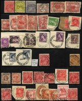 Lot 343 [2 of 7]:F-I Collection: mostly on Hagners with covers, stamps & pieces, organised alphabetically, mainly 1900s onwards with duplication. Noted 1990 Fiztroy Sth spelling error, 1915 Flynn's Creek Upper, 1907 Gaffney's Creek on £1 KEVII (faults), 1923 Grassdale, 1923 Hallam, 1906 Hopevale on PPC, 1924 Hunter. (1,000s)