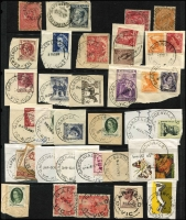 Lot 343 [3 of 7]:F-I Collection: mostly on Hagners with covers, stamps & pieces, organised alphabetically, mainly 1900s onwards with duplication. Noted 1990 Fiztroy Sth spelling error, 1915 Flynn's Creek Upper, 1907 Gaffney's Creek on £1 KEVII (faults), 1923 Grassdale, 1923 Hallam, 1906 Hopevale on PPC, 1924 Hunter. (1,000s)