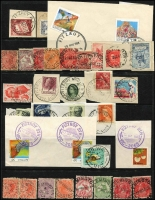 Lot 343 [1 of 7]:F-I Collection: mostly on Hagners with covers, stamps & pieces, organised alphabetically, mainly 1900s onwards with duplication. Noted 1990 Fiztroy Sth spelling error, 1915 Flynn's Creek Upper, 1907 Gaffney's Creek on £1 KEVII (faults), 1923 Grassdale, 1923 Hallam, 1906 Hopevale on PPC, 1924 Hunter. (1,000s)