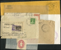 Lot 344 [2 of 6]:J-M Collection: mostly on Hagners with covers, stamps & pieces, organised alphabetically, mainly 1900s onwards with duplication. Noted 1907 violet Cathkin, 1941 boxed RAAF PO Laverton on parcel label, 1975 Lower Norton Creek, 1932 30mm Macedon Upper on registered cover. (1,000s)