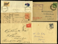 Lot 346 [2 of 4]:N-Q Collection: mostly on Hagners with covers, stamps & pieces, organised alphabetically, mainly 1900s onwards with duplication. Noted 1914 Powlett Plains on cover with BN 751, 1934 Princes Pier registered cover, 1960 Pullut on cover, 1948 Pier Millan. (1,000s)