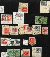 Lot 346 [3 of 4]:N-Q Collection: mostly on Hagners with covers, stamps & pieces, organised alphabetically, mainly 1900s onwards with duplication. Noted 1914 Powlett Plains on cover with BN 751, 1934 Princes Pier registered cover, 1960 Pullut on cover, 1948 Pier Millan. (1,000s)