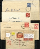 Lot 346 [1 of 4]:N-Q Collection: mostly on Hagners with covers, stamps & pieces, organised alphabetically, mainly 1900s onwards with duplication. Noted 1914 Powlett Plains on cover with BN 751, 1934 Princes Pier registered cover, 1960 Pullut on cover, 1948 Pier Millan. (1,000s)
