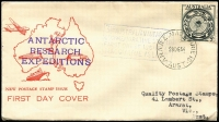 Lot 847 [3 of 4]:Grant (Leslie) 1954-64 Special Event group of covers addressed to Quality Postage Stamps or L Grant of Ararat. Includes Macquarie Island, Geebex, French Fair, 1959 Mt Kosciusko etc. No duplication. Plus unrelated 1955 Cocos & 1964 Guillaux with Cinderella attached. (15)