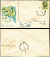 Lot 786 [3 of 8]:1950-63 Range of registered illustrated covers, many of lower values in blocks of 4 or 6, little duplication, mainly Gower & Wesley with a few Wide World. A difficult group in generally nice condition (18)