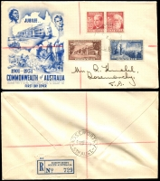 Lot 786 [5 of 8]:1950-63 Range of registered illustrated covers, many of lower values in blocks of 4 or 6, little duplication, mainly Gower & Wesley with a few Wide World. A difficult group in generally nice condition (18)