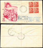 Lot 786 [1 of 8]:1950-63 Range of registered illustrated covers, many of lower values in blocks of 4 or 6, little duplication, mainly Gower & Wesley with a few Wide World. A difficult group in generally nice condition (18)