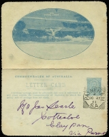Lot 836 [2 of 5]:1911-16 Group all used with KGV Fullface light blue Sydney Harbour, red Giant Red Gum, brown Blue Lake, Kangaroo & Map grey The Two Brothers and deep blue Mt Lofty Ranges, KGV Sideface deep grey-blue/purple-brown bi-colour Sydney Heads. BW #LC8(128A), 12(12), 12(50), 14(135E), 15(84E) & 18(129A), Cat $450+. Small faults, useful group. (6)
