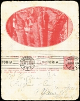 Lot 836 [3 of 5]:1911-16 Group all used with KGV Fullface light blue Sydney Harbour, red Giant Red Gum, brown Blue Lake, Kangaroo & Map grey The Two Brothers and deep blue Mt Lofty Ranges, KGV Sideface deep grey-blue/purple-brown bi-colour Sydney Heads. BW #LC8(128A), 12(12), 12(50), 14(135E), 15(84E) & 18(129A), Cat $450+. Small faults, useful group. (6)