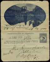 Lot 836 [5 of 5]:1911-16 Group all used with KGV Fullface light blue Sydney Harbour, red Giant Red Gum, brown Blue Lake, Kangaroo & Map grey The Two Brothers and deep blue Mt Lofty Ranges, KGV Sideface deep grey-blue/purple-brown bi-colour Sydney Heads. BW #LC8(128A), 12(12), 12(50), 14(135E), 15(84E) & 18(129A), Cat $450+. Small faults, useful group. (6)