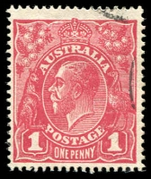 Lot 703 [1 of 3]:1d Red Harrison Printing with Shades, carmine-rose x2, deep carmine-rose, pale carmine-rose x2 & carmine (aniline) x2, Perfins 'OS' x2, 'OS/NSW', 'T' & private perfin, Varieties (3)e,g,h,n,p & (4)f,h,j, Cat $1,825+. A rare opportunity. (20)