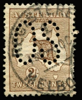 Lot 79 [1 of 2]:½d to 2/- Perf Large 'OS' simplified set, generally fine/very fine, Cat $1,300+. (11)