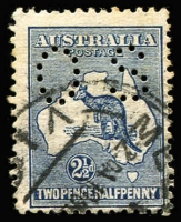Lot 80 [1 of 2]:½d to 2/- Perf Small 'OS' simplified set, generally fine/very fine, Cat $1,335+. (11)