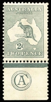 Lot 538:2d Grey Plate 2 CA Monogram single, BW #6(2)zc. C