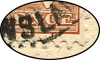 Lot 90 [6 of 6]:6d Chestnut Die IIB on three registered covers to NZ, all with catalogued varieties [1] Scratch from Broome to left frame, plus Distorted bottom frame & White scratch through ALIA 1st retouch both with pmk nearly obliterating varieties (3)