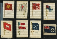 Lot 565 [1 of 2]:Cigarette Silk Flag Series: Kensitas and other brands, some in original grease-proof paper wrapping. Modest duplication. Generally very fine. (108)