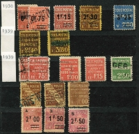 Lot 121 [5 of 5]:World: bits and pieces, incl some revenues, noted Scandanavia, USA Christmas Seals, 1954 Adelaide Children's Hospital Appeal (qty), various Red Cross labels. Plus French 1938-60 Parcel Post stamps collection and a group of airline luggage labels. (100s)