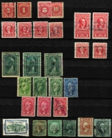 Lot 47 [3 of 5]:Revenues - Americas stock book with USA wide range including Postal Note, cigarettes, small cigars, playing cards, oleomargarine. California Feeding Stuffs!!, Florida citrus stamp. Also selections from Cuba, Mexico, Chile, El Salvador, Costa Rica, etc. (Few 100)