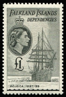 Lot 1305 [1 of 3]:1954-62 QEII Ships set ½d to £1, SG #G26-40, fresh MUH, Cat £225. (15)
