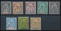 Lot 1324 [2 of 2]:1892 Navigation & Commerce 1c to 50c, excl 25c & 40c, SG #31-41, Cat £150. (9)